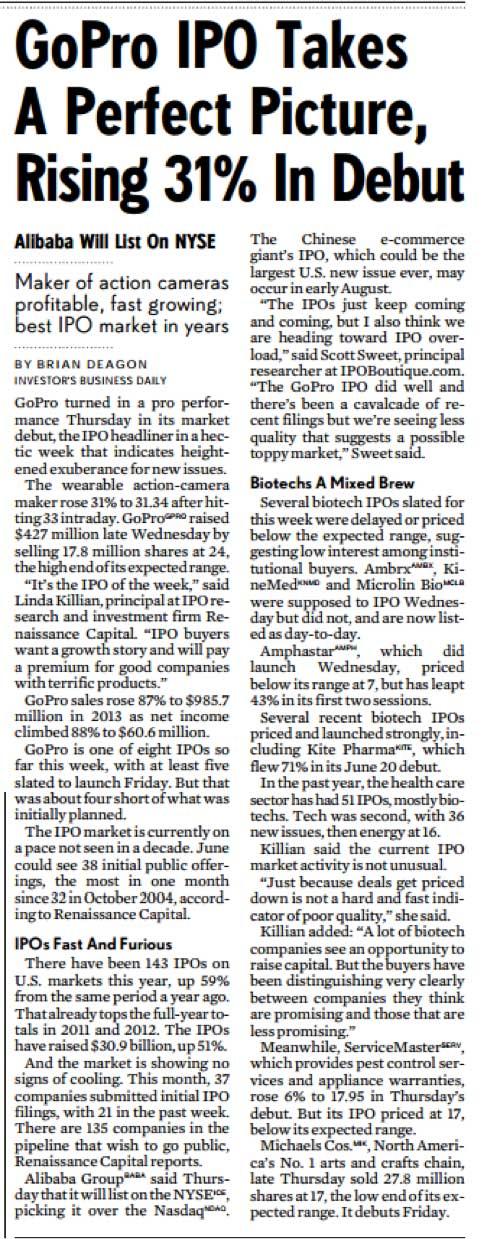 GoPro IPO Debut