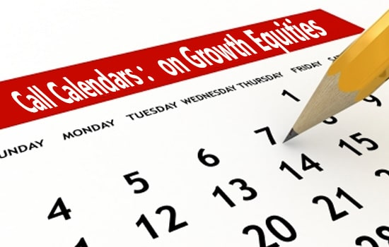 call calendars on growth equities